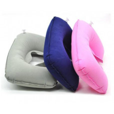Soft inflatable neck pillow